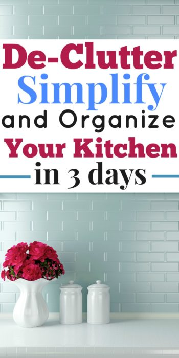 This free course helped me get rid of clutter in our kitchen!