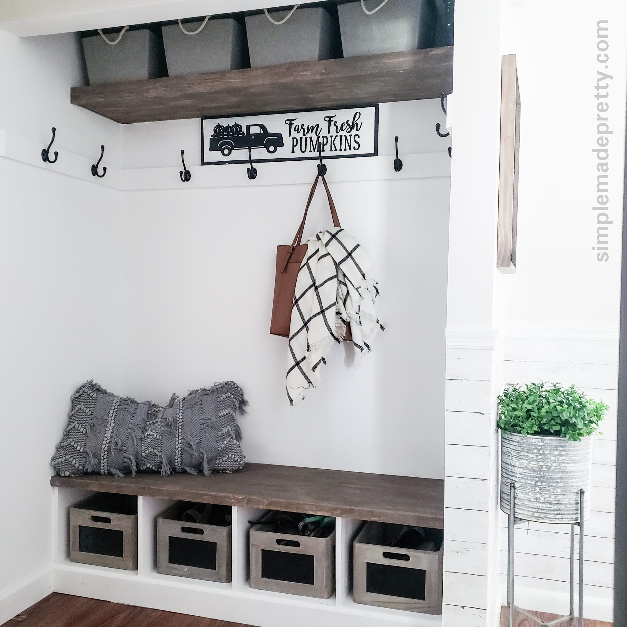 How To Turn A Closet Into A Mudroom Simple Made Pretty