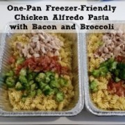 One-Pan Freezer-Friendly Chicken Alfredo Pasta with Bacon and Broccoli