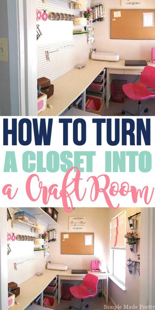 How to Turn a Closet into a Craft Room