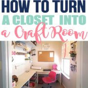 How to Turn A Closet Into a Craft Room | My Craft Room Reveal