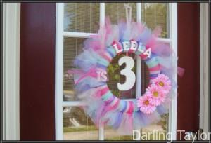 Girls Birthday Party Wreath