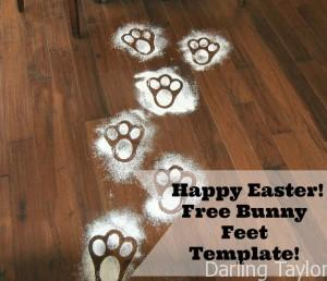 Happy Easter!  Free Printable Bunny Feet Template!