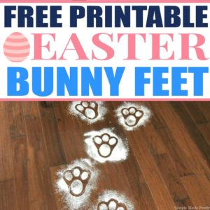 Surprise the kids on Easter morning by using these Free Printable Easter Bunny Feet Template to create bunny tracks through your home! Easter printables, Easter bunny feet, bunny feet, Easter freebies