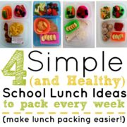 4 Simple, Healthy School Lunch Ideas that will Make Your Life Easier