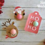 Printable Christmas Themed EOS Lip Balm Cards