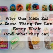 Why Our Kids Eat the Same Thing for Lunch Every Week (and what they eat)