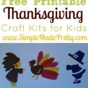 Free Printable Thanksgiving Craft Kits for Kids