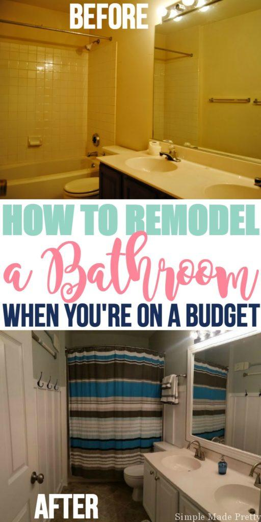 We had zero budget to put into remodeling our bathroom, but the floors needed replaced so here's how we remodeled our bathroom on a major budget!