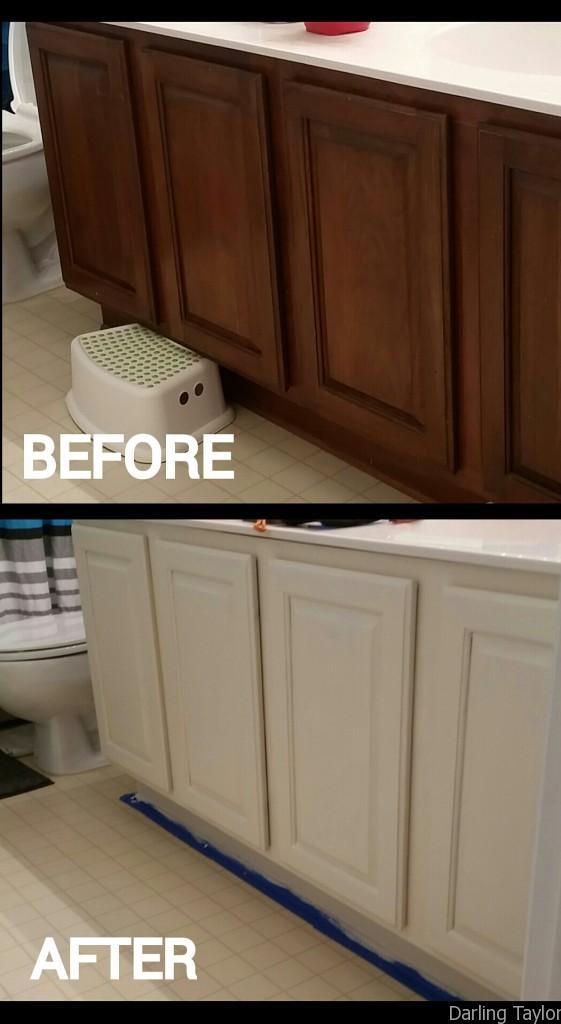 DIY painted builders grade cabinets