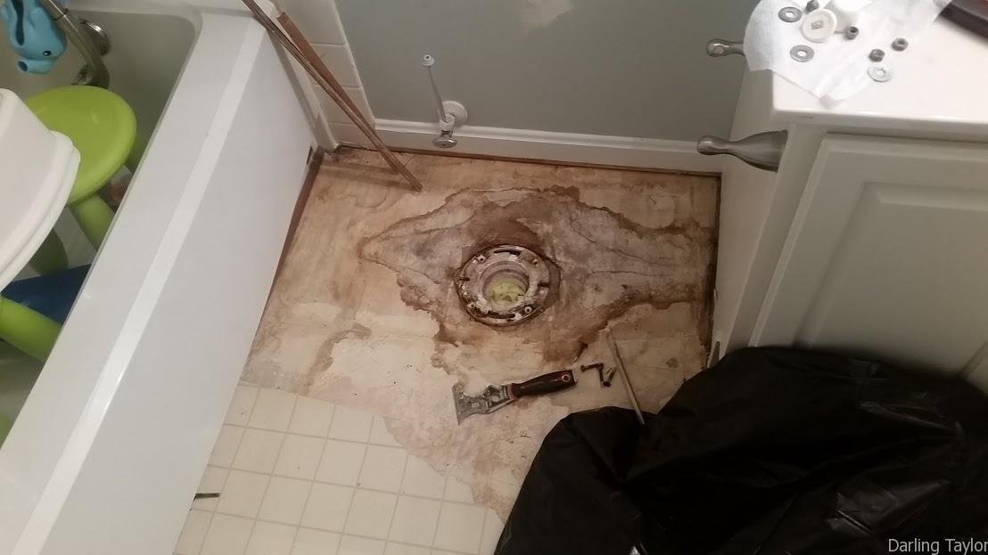 Bathroom Leaking To Floor Below : How to remodel your bathroom on a budget simple made pretty