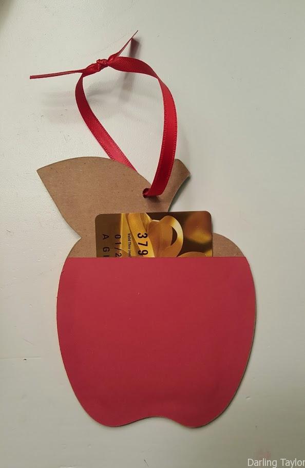 Apple Ornament Gift Card holder