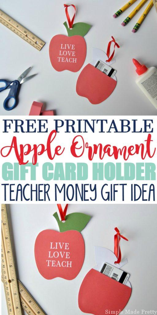 Our child's teacher loved this easy to make money gift idea! I was able to make this teacher gift in less than 5 minutes to use for teacher appreciation week. I can't believe this blogger gives away so many free printables!