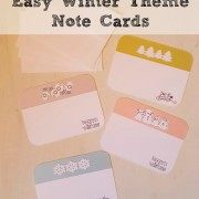 Paper Crafts:  Easy Winter Themed Note Cards