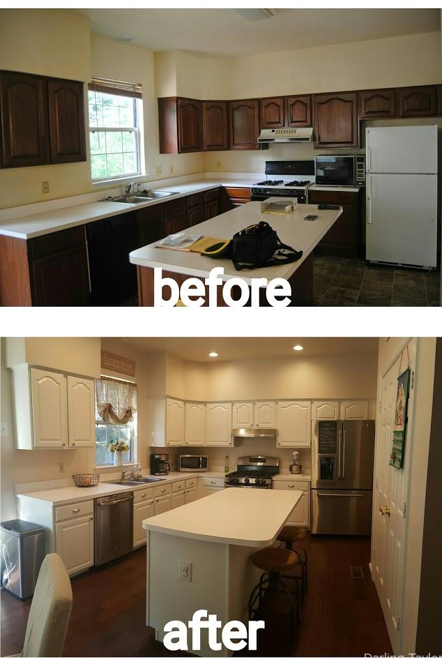 Before and After Kitchen picture - Darling Taylor