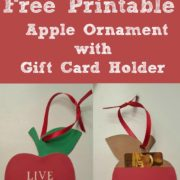Free Printable Apple Ornament with Gift Card Holder for Teachers Gifts