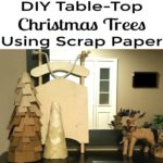 DIY Table-Top Christmas Trees Using Scrap Paper