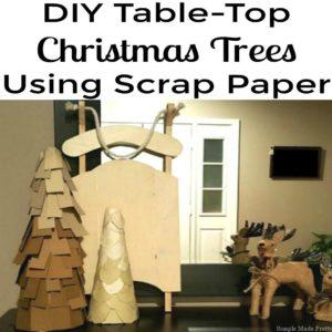 DIY Table-Top Christmas Trees Using Scrap Paper