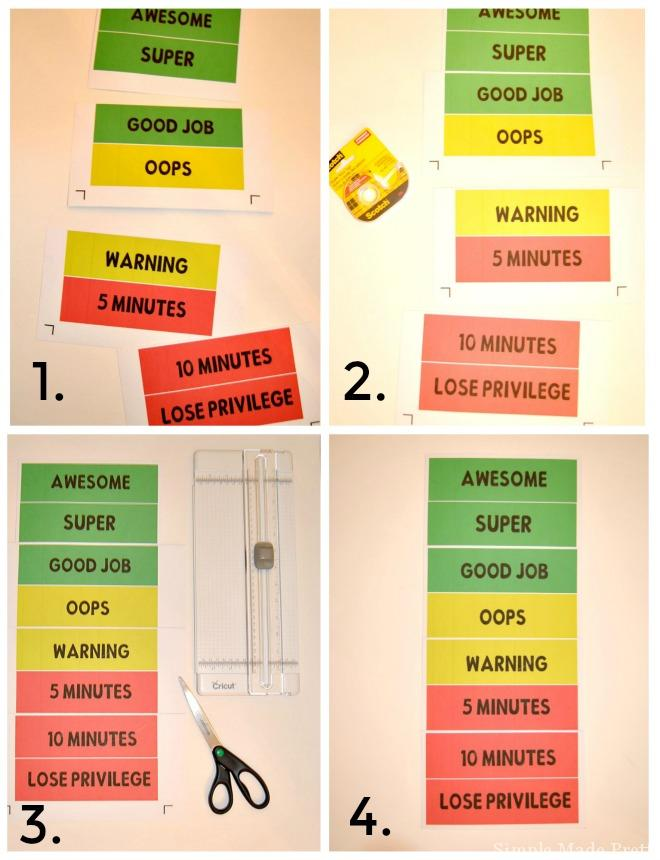 Free Printable ColorCoded Reward Chart  Simple Made Pretty