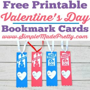 These Free Printable Valentine's Day Bookmark Cards are perfect for your little ones learning to read to hand out to their friends! Free printable Valentines, Valentine bookmarks, Free printable Valentine Cards, Valentines printables, valentines from teachers, teacher valentines, kids valentines from teacher
