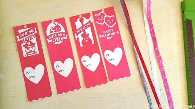 photo relating to Printable Valentines Bookmarks named Absolutely free Printable Valentines Working day Bookmark Playing cards - Very simple Built