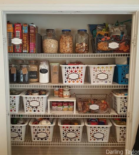 Organize your Pantry with these Easy DIY Card Stock Labels. Her DIY and organizing ideas are amazing!
