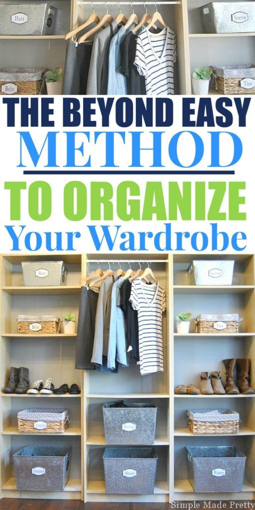 "Let's be real, you have too many clothes. We all do. There is always room to follow the ""less is more"" guidelines when it comes to clothes. Read How To Reduce (and Organize) Your Wardrobe. Wardrobe capsule, creating a wardrobe capsule, reduce my clothes, organize closet, how to organize clothes, minimalist wardrobe"