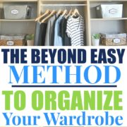 How To Reduce (and Organize) Your Wardrobe