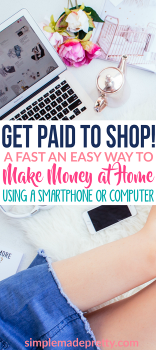 Wow! It's true, I just got paid to shop! This is a Fast and Easy Way to Make money from home using your smartphone or computer!