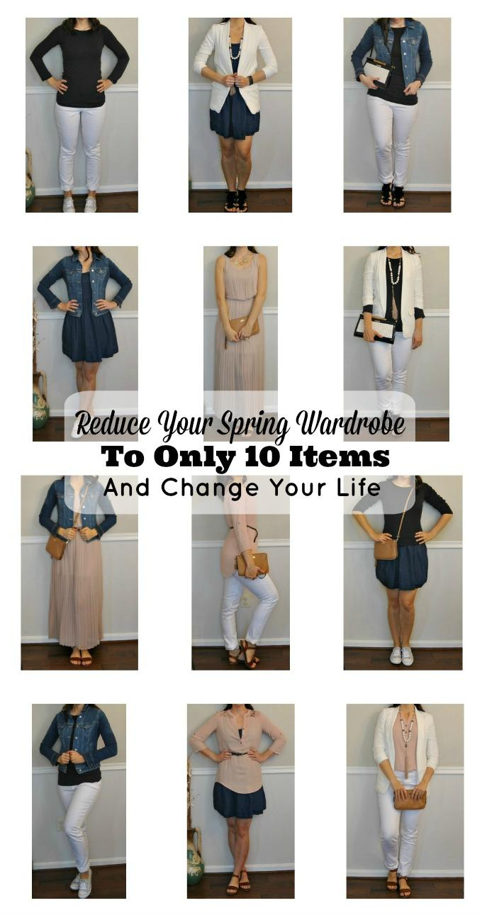 Reduce Your Wardrobe to Only 10-Items and Change Your Life, spring wardrobe capsule, spring clothes, spring outfits, 10-item wardrobe