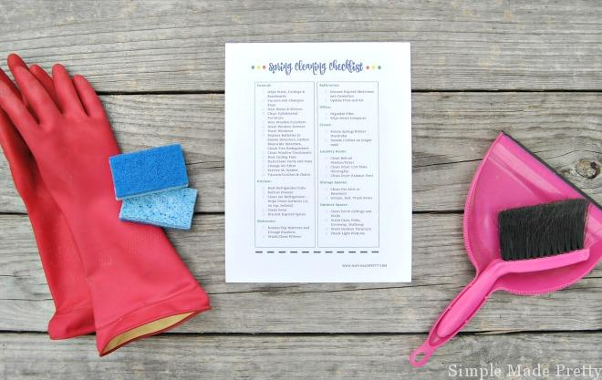 If you hate Spring cleaning or don't know where to start, the Ultimate Spring Cleaning Checklist will simplify the process! Free printable Spring cleaning list, Spring Cleaning checklist, Cleaning checklist, Printable cleaning checklist