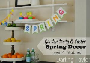 Spring Party Decor with Free Printables