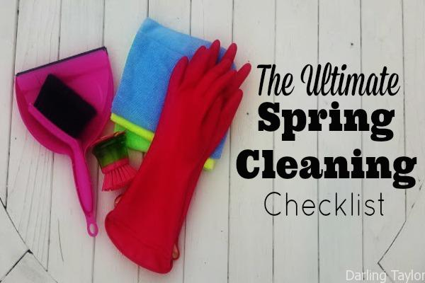 The Ultimate Spring Cleaning Checklist on 1-page!