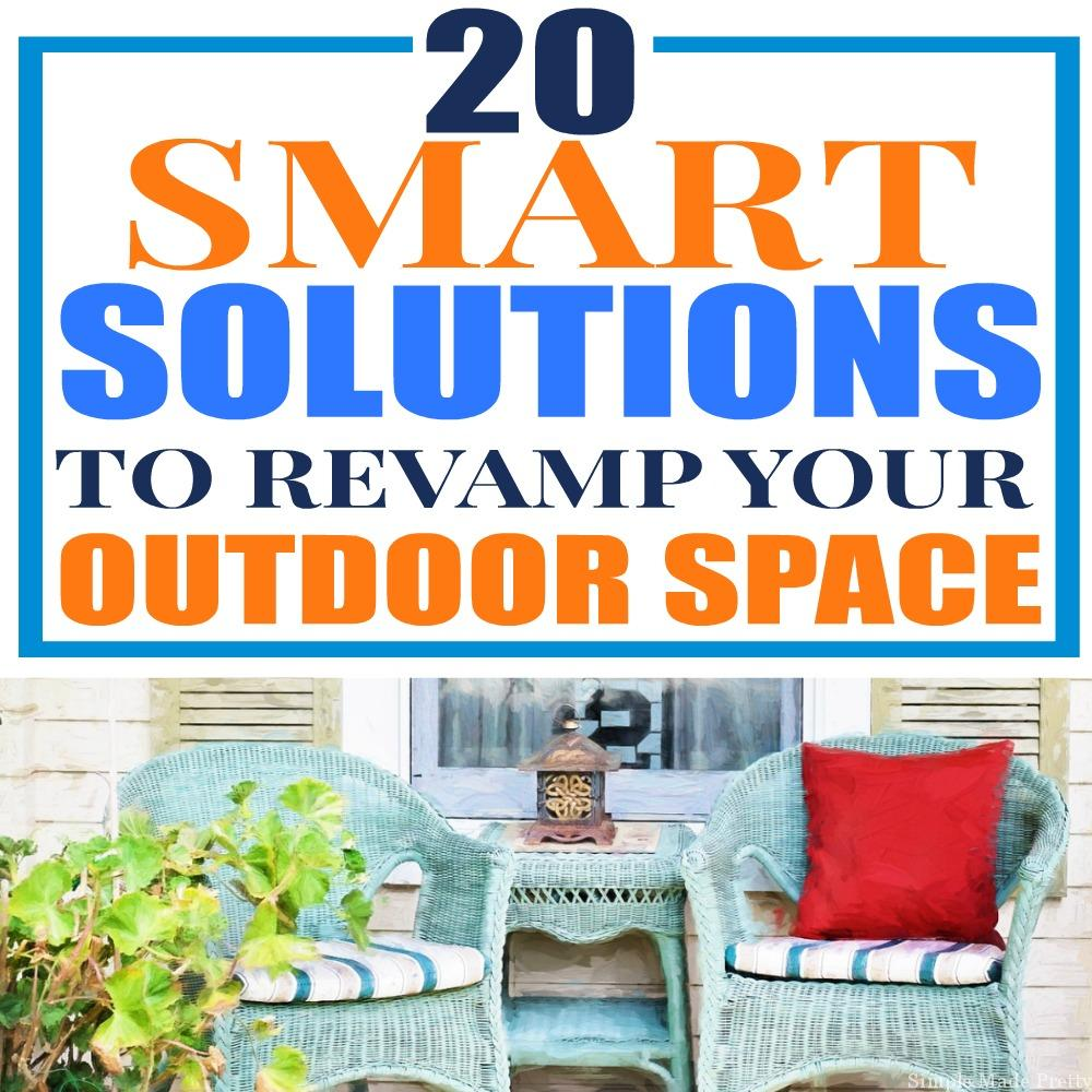 20 Ways to Revitalize Your Outdoor Space for Spring, clean my outdoor space, redo my porch, remodel my porch, stage outdoors, revamp my porch, revamp my garage