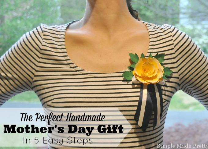 Want to make Mother's Day extra special this year? Try making this Mother's Day flower corsage keepsake! We've included a tutorial below along with a free flower template so you can make one for the women in your life in 5 easy steps! This project is also very kid friendly - moms love receiving handmade gifts from their children!