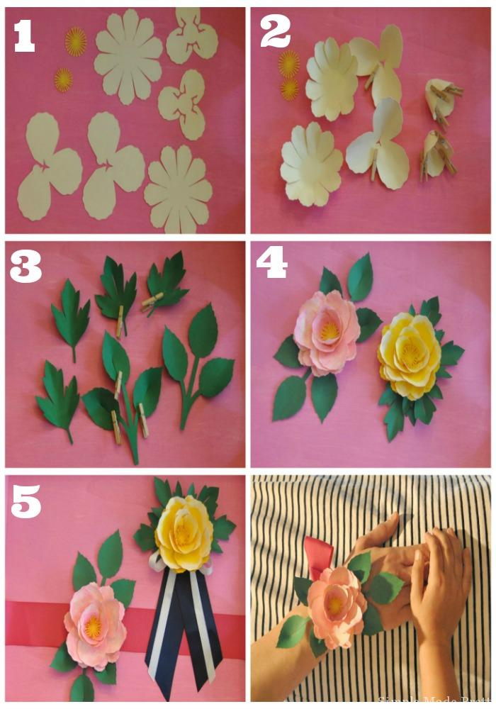 Handmade Mothers Day Paper Flower Corsage In 5 Easy Steps Simple
