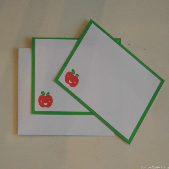 Printable teachers note cards