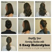 Simplify Your Morning Routine with 5 Easy Hairstyles by Creating a Style Schedule