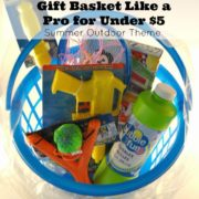 Create an Outdoor Fun Themed Gift Basket For Under $5