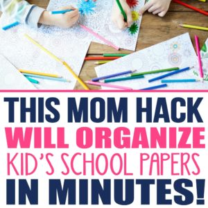 Learn how to organize school papers at home with kids. Kids paper organization | Kids paper organization command center | School memories | Kids artwork storage ideas | Kids artwork display ideas DIY | organize artwork children | children's artwork display ideas | Organize kids school papers memory box | organize kids homework