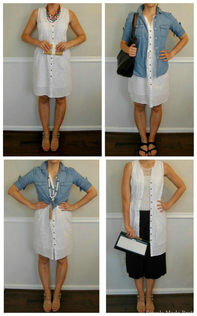 1 dress, 4 ways - Summer Wardrobe Capsule