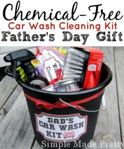 Make a chemical-free car wash cleaning kit for Father's Day using these free printables, essential oils and Norwex. Essential oil cleaning recipes included!