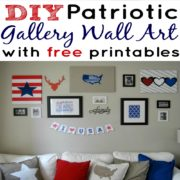 DIY Patriotic Gallery Wall Art Home Decor with Free Printables