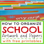 How to Organize School Artwork and Projects
