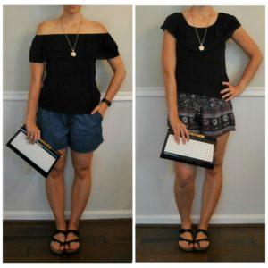 off-the-shoulder top - Summer Wardrobe Capsule