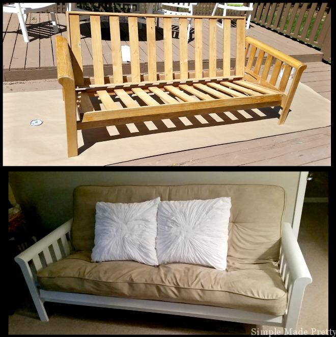 Before and After Painted Futon