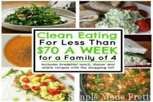Clean Eating for Less Than $70 a Week for a Family of 4