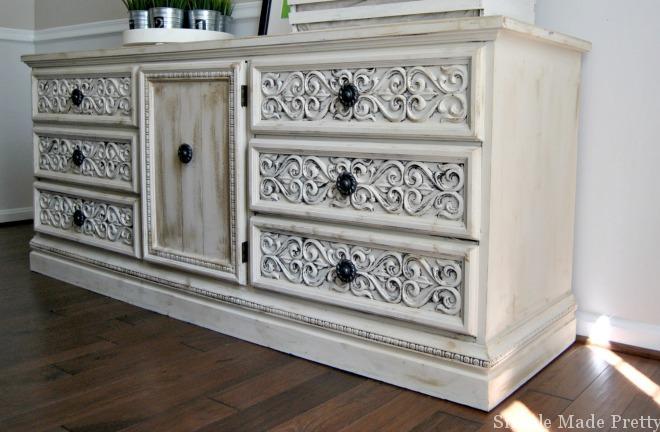 Dresser Annie Sloan Chalk Paint Old Ochre with dark wax