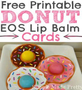 Donut EOS Lip Balm Cards