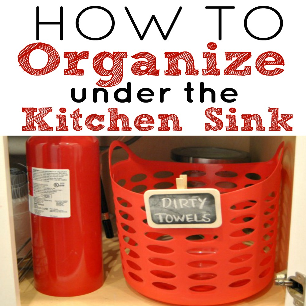 How To Organize Under The Kitchen Sink Simple Made Pretty